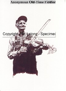 Anonyme jouant du fiddle old time