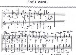 Extraits tablature East Wind